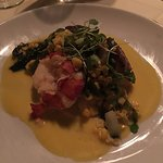 Open lobster and scallops ravioli