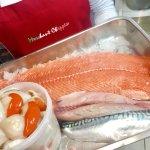 Fresh Salmon, Scallops and Mackerel