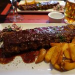 Ribs with chocolate and beer sauce