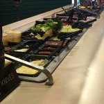 Toppings bar; well stocked and clean with many free toppings.