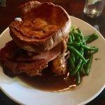 Beautiful Sunday Roast and Desserts  Honey Roast Ham, & Roast Beef again 5 stars ✨