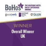 2017 UK Winner of the Bohos Guest Experience Awards