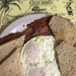 Basic bacon and eggs. Good crisp bacon.