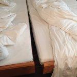 Bett in zwei Hälften