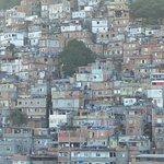 View of local Favela from hotel roof top