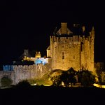 Castle view at night