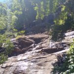 Water trikling down the rocks