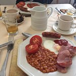 Really good breakfast, toast, cereal and a full english included!