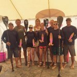 Team One Love Beach crushing the  2016 Paddle for Pink!