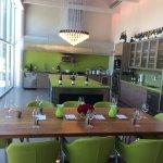Tasting table at Hilliard Bruce