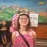 my oldest at the model trains.
