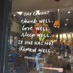 Loved the quote on their window!