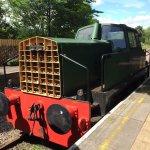 Sentinel shunting loco at Stanhope Station, Weardale Railway.