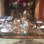 Tea & coffee service in the parlor/library
