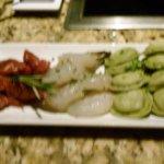 steak, shrimp and tortellini