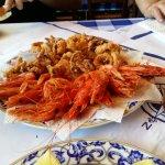 Fritierte Meeresfrüchte