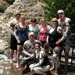 "Six family members and two ""adopted family members"" at Sulphur Springs Mud Bath"