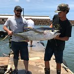 105# Yellow Fin Tuna Team Catch on our 3rd fishing trip!