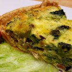 Broccoli quiche great for brunch.