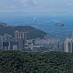 View of Aberdeen Hong Kong from Peak Road