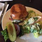 Bacon cheese burger ceaser salad