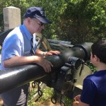 Jim telling the boys about the authenticity of cannons