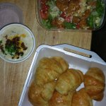 The best dishes at the place. The chicken finger salad, potato soup, and croissants.