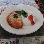 Fried Black Cherry Pie with Vanilla Ice Cream