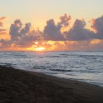 My picture of the sunrise from the beach -- beautiful