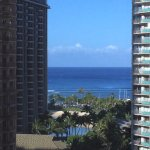 Ocean view from the window across from the elevator. Think this is what ocean view rooms would s