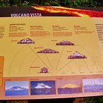 Volcano Vista sign at a  view point to see Mt. St. Helens