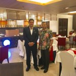 With Restaurant Manager Arun Sharma