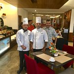 With Chef Baljeet and Sous Chef Sanju