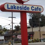 Lakeside Cafe Street Sign