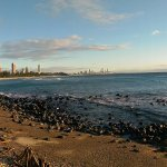 Looking south from Burleigh with Surfers in distance