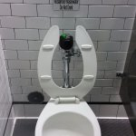 Toilet inside, make sure you don't drink from it
