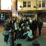 Language students on the ghost walk