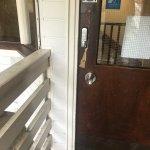 Damaged door to annexe