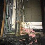 Wiring outside kitchen