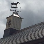 The very pretty weathervane on the Buttery roof