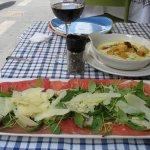 Carpaccio and provolone