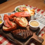 Reef and Beef. Steak and Lobster. -30% off. Thursday 14:00-22:00