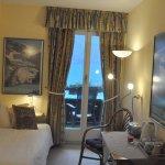 Die Zimmer haben Sicht auf den magischen See