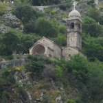 Above the Hotel Vardar, the 15th C Chapel of Our Lady of Help