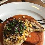 Swordfish on sweet potatoes medallions