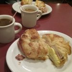 Ham, egg & cheese croissants