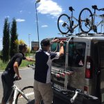 Marco and Chris loading up the van...very professional and well equipped!