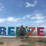 Group picture at the Belize sign.