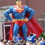 Dean Kane at Statue at Superman Celebration June 10 2017