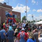 Parade end at Statue 11 June 2017 at Superman Celebration 2017